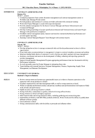 Contract Administrator Resume Samples Velvet Jobs