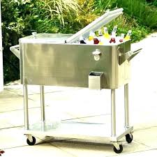 outdoor ice chest wood beverage cooler drink ideas for your patio or deck cart o wooden outdoor cooler