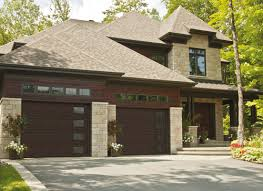 dark brown garage doorsContemporary Garage Doors  Des Moines  Ames IA