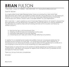 Cover Letter For A Sales Representative Job Sales Representative