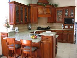 dark wood kitchen cabinet for small spaces