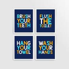 printable bathroom signs for kids.  Bathroom Aqua Blue Orange Navy Printable DIY Kids Bathroom Art Brush Inside Signs For O