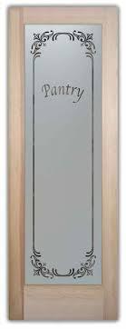 lenora pantry door 419 douglas fir slab door 24 30 wide x 80 tall a frosted glass