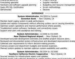 resume : Linux System Administration Sample Resume Stunning Resume .