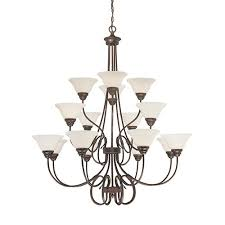 millennium lighting fulton 16 light chandelier in rubbed bronze