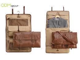 customer gift for travelling leather garment bags