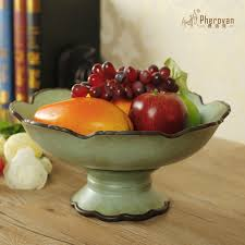 get ations european ceramic fruit bowl large ds lin si american bird ornaments home fashion coffee table dining