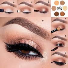 copper gold makeup for small eyes