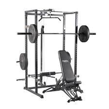 weight benches with lat pulldown primal strength home power rack with lat low row matte black