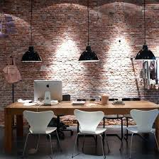 kitchen dining lighting. Plain Lighting Kitchen Dining Room Lighting Diner With Pendant Exposed  Brick Wall Wooden Table White Chair On Kitchen Dining Lighting
