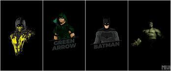 minimal superhero wallpapers