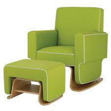 baby nursery modern glider rocking chair designed with white base
