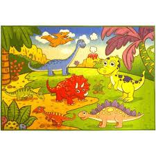 ottomanson children s dinosaurs multi 5 ft x 7 ft area rug