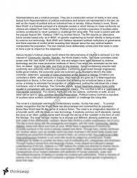gattaca essay year vce english thinkswap mod c brave new world gattaca