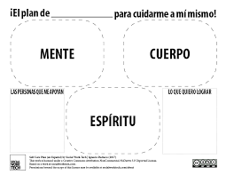 My Self Care Plan (En Español)! – Social Work Tech