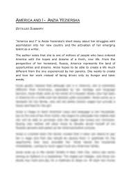america and i anzia yezierska essay aufsatz america and i anzia yezierska anzia ends up in the jewish ghetto in new