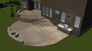 concrete patio designs with fire pit. Austin_double_patio_with_fire_pit_and_retaining_wall_design_plan Concrete Patio Designs With Fire Pit !