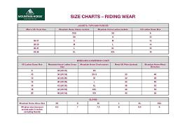 Mountain Horse Jacket Size Chart Mountain Horse Adele Fleece