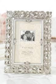 premium crystal pearl silver filigree jewelled photo frame