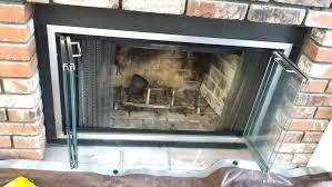 fireplace glass doors installation fireplace glass doors gas fireplace glass door installation