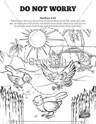 Matthew 6 Do Not Worry Sunday School Coloring Pages Sunday School