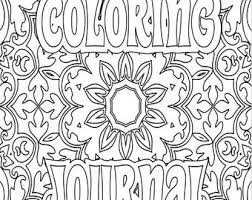 Coloring Journal Etsy