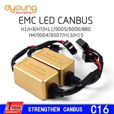 c16 <b>2pcs</b> strengthen LED Headlight Canbus Kit <b>h1 h4</b> h15 9005 ...