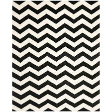 safavieh ham ivory black 8 ft x 10 ft area rug