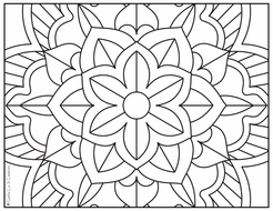 30 Coloring Pages Large Mandala Designs By Gottaluvitcreations