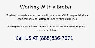No Medical Exam Life Insurance Quotes Unique Life Insurance Quotes No Exam QUOTES OF THE DAY