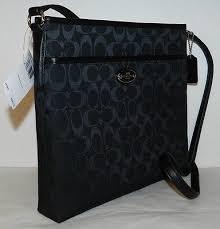 New Coach Handbag 12cm Signature File Bag Crossbody Black Jacquard Purse  F36378 Whats it worth ...