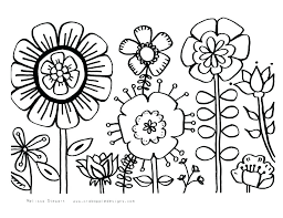 Free Coloring Sheets For Spring Coloring Pages Spring Flowers Page