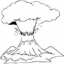 Free printable volcano coloring pages. Volcano Coloring Page