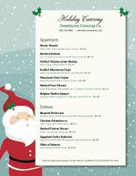 Christmas Dinner Catering Menu Design Templates By
