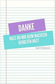 Danke Dass Du Mir Beim Wachsen Geholfen Hast Notizbuch A5 Notizbuch