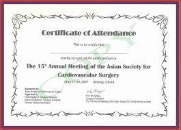 Sample Letter Certificate Of Attendance Cepoko Com