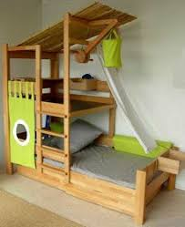 the boo and the boy really cool kids beds love this with the fort on top not sure how safe the pulley is but it is pretty cool awesome kids beds awesome
