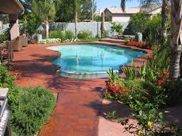 painting cool deck around pool round designs