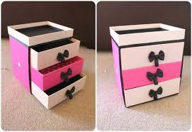 diy makeup box drawer