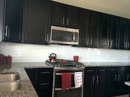 kitchen backsplash glass tile dark cabinets. Kitchens: Backsplash Tile With Dark Cabinets Subway Grout 2018 Also Kitchen Glass S
