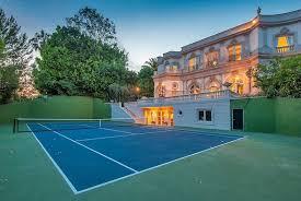 Wimbledon In Your Backyard Installing A Synthetic Grass Tennis Backyard Tennis Court Cost