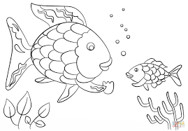 rainbow fish coloring page beautiful rainbow fish coloring page free printable pages fancy sheet