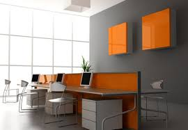 decoration of office. Orange Decoration For Office Interior Of R
