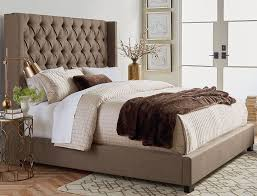 king mattress set. Picture Of Westerly Brown Upholstered King Bed Set Mattress R
