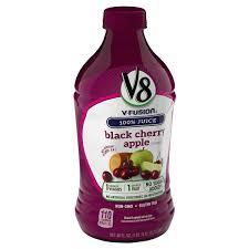 v8 v fusion fruit juice drink black cherry apple 46 fl oz apple juice meijer grocery pharmacy home more