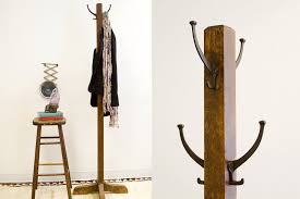 How To Build A Standing Coat Rack Old Fashioned Antique Wooden Coat Rack Oldnewhouse Etsy Dma In 50