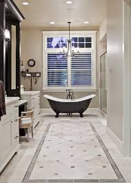 floor tile designs Bathroom Traditional with beige bathroom vanity