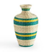 <b>Ваза декоративная</b> из бамбука в36 см, plooming разноцветный ...