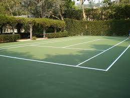 Post Tensioned Tennis Court Design This Secret Get Away Backyard Tennis Court Is A Fun Way To