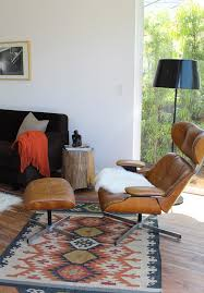 eames chair kilim rug gorgeous homes featuring kilim inspired styles interior design 2